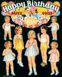 Happy Birthday Paper Dolls
