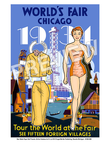 Chicago Paper Doll Travel Print