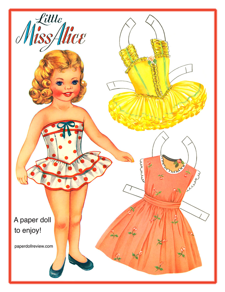 Little Miss Alice Free Paper Doll to print