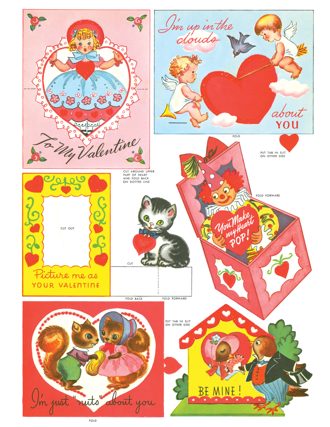 FREE vintage Valentines from Paperdoll Review!